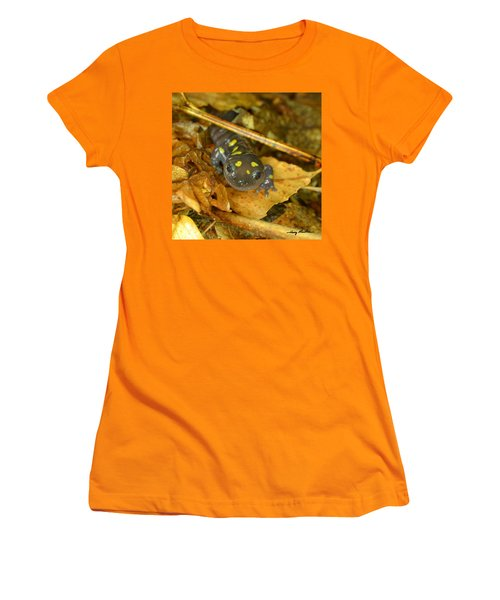 Spotted Salamander Women's T-Shirt (Athletic Fit)