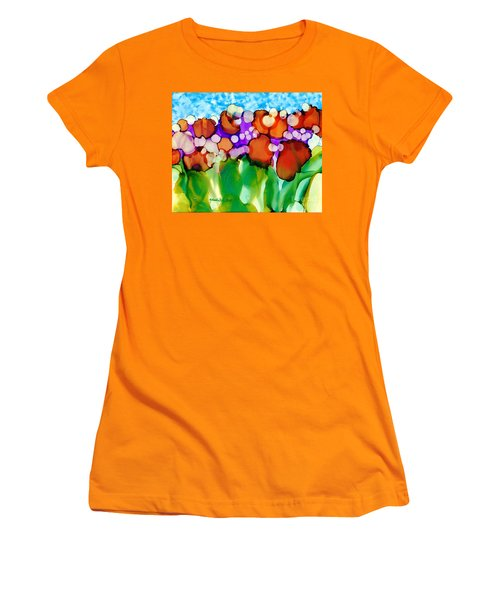 Women's T-Shirt (Junior Cut) featuring the painting Spring In Charleston by Yolanda Koh