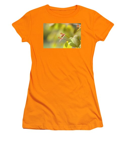 Women's T-Shirt (Junior Cut) featuring the photograph Spring Macro2 by Jeff Burgess