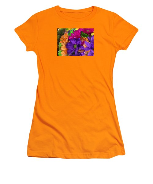 Spring Mums Women's T-Shirt (Athletic Fit)