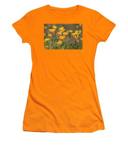 Women's T-Shirt (Junior Cut) featuring the photograph Spring Softly Calling  by Saija Lehtonen
