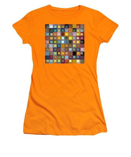 Women's T-Shirt (Junior Cut) featuring the digital art Squares In Squares One by Michelle Calkins