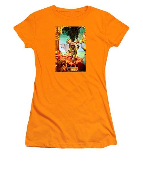 Sri Nath Ji, Radha Gopinath Mandir, Mumbai Women's T-Shirt (Junior Cut) by Jennifer Mazzucco