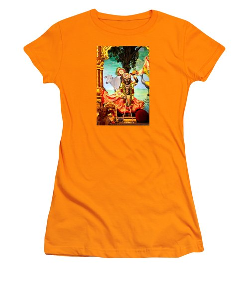 Sri Nath Ji, Radha Gopinath Mandir, Mumbai Women's T-Shirt (Athletic Fit)