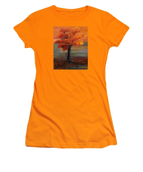 Stand Alone In Color - Autumn - Tree Women's T-Shirt (Athletic Fit)