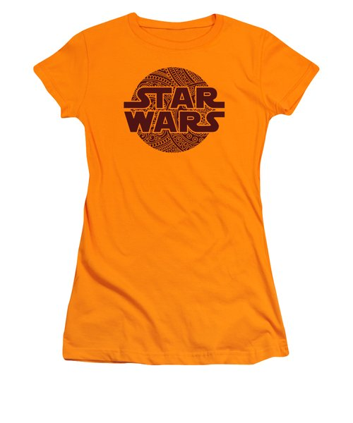Star Wars Art - Logo - Red 02 Women's T-Shirt (Athletic Fit)