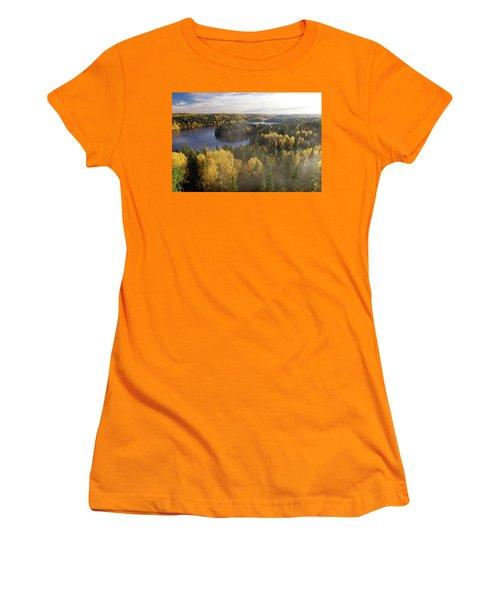 Steamy Forest Women's T-Shirt (Junior Cut) by Teemu Tretjakov
