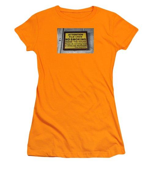 Women's T-Shirt (Junior Cut) featuring the photograph Steel Magnolias Memorabilia by Paul Mashburn