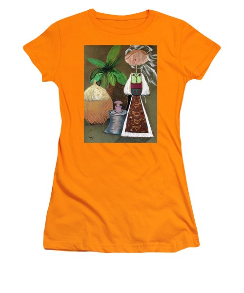 Still Life With Countru Girl Women's T-Shirt (Athletic Fit)