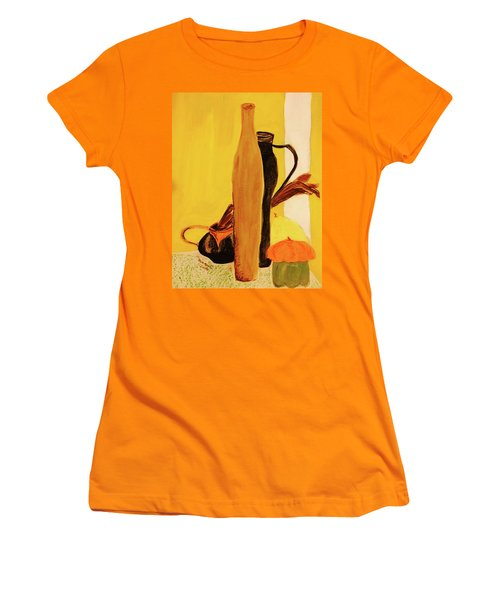 Still Life With Pumpkins  Women's T-Shirt (Athletic Fit)