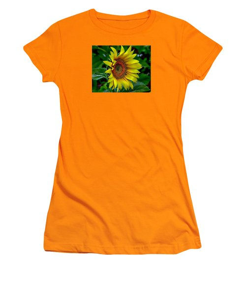 Straight Up Sunflower Women's T-Shirt (Athletic Fit)