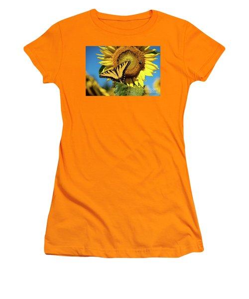 Summer Friends Women's T-Shirt (Junior Cut) by Sandy Molinaro