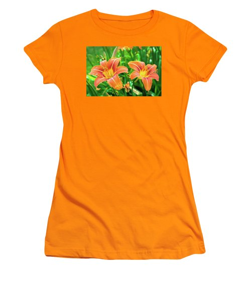 Women's T-Shirt (Athletic Fit) featuring the photograph Summer Jubilation by Bill Pevlor