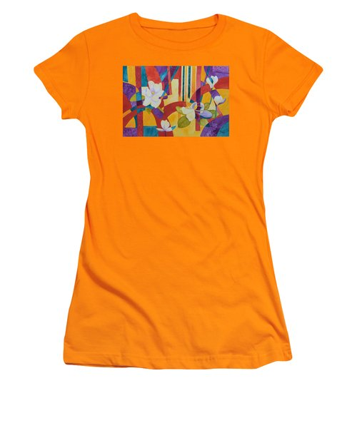 Summer Magnolias Women's T-Shirt (Athletic Fit)