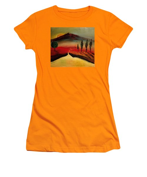 Sun Going Down Women's T-Shirt (Athletic Fit)