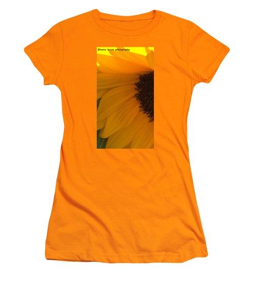 Sunflower Macro Women's T-Shirt (Junior Cut) by Nance Larson