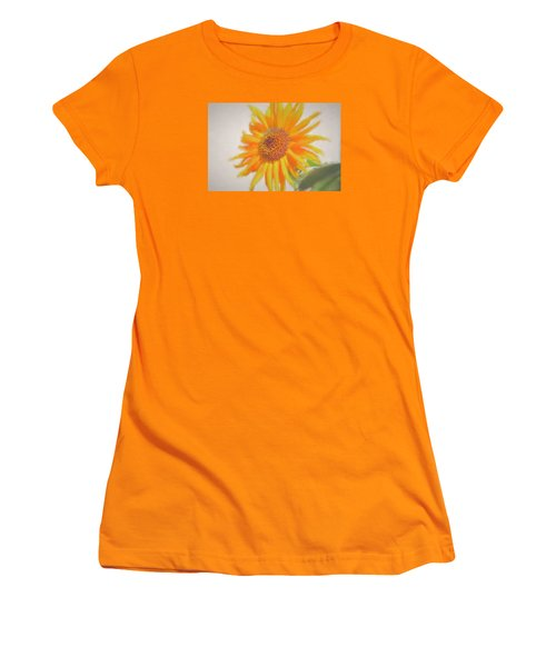 Sunflower Painting Women's T-Shirt (Junior Cut) by Debra     Vatalaro