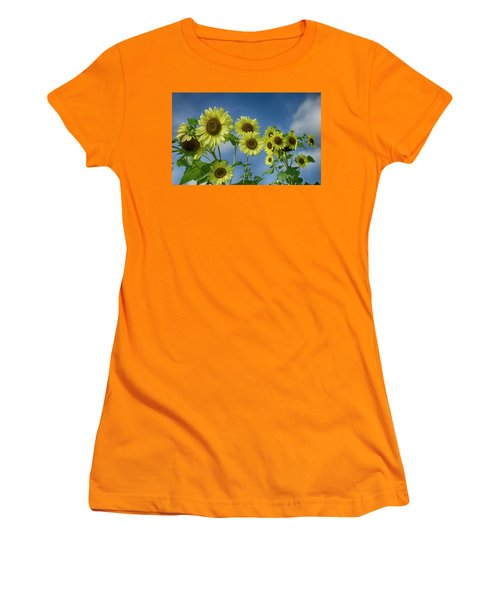 Sunflower Party Women's T-Shirt (Athletic Fit)