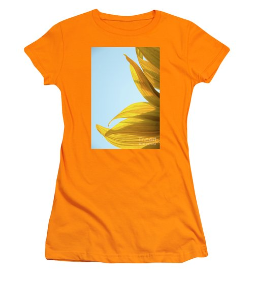 Women's T-Shirt (Athletic Fit) featuring the photograph Sunflowers 11 by Andrea Anderegg