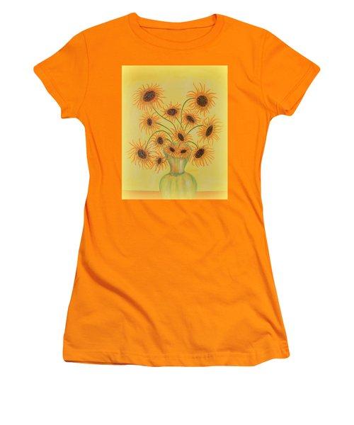 Sunflowers Women's T-Shirt (Junior Cut) by Marie Schwarzer