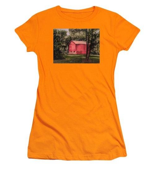 Sunlit Barn Women's T-Shirt (Junior Cut) by Sharon Schultz