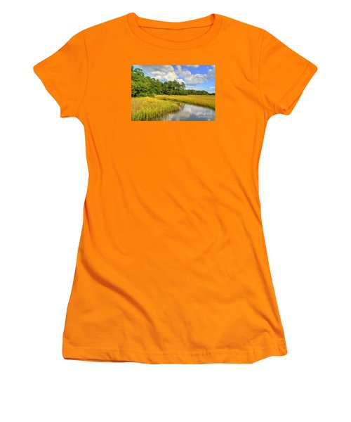 Sunlit Marsh Women's T-Shirt (Junior Cut)