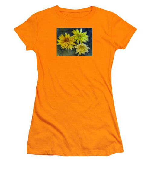 Sunny Yellow Women's T-Shirt (Athletic Fit)