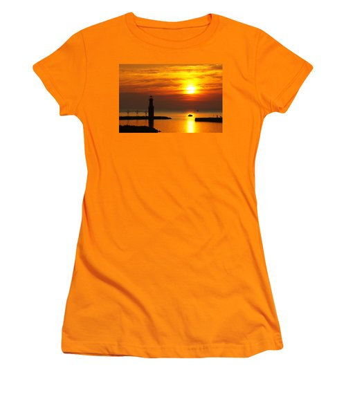 Sunrise Brushstrokes Women's T-Shirt (Athletic Fit)