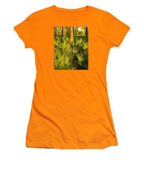 Sunrise Saw Palmettos Women's T-Shirt (Athletic Fit)