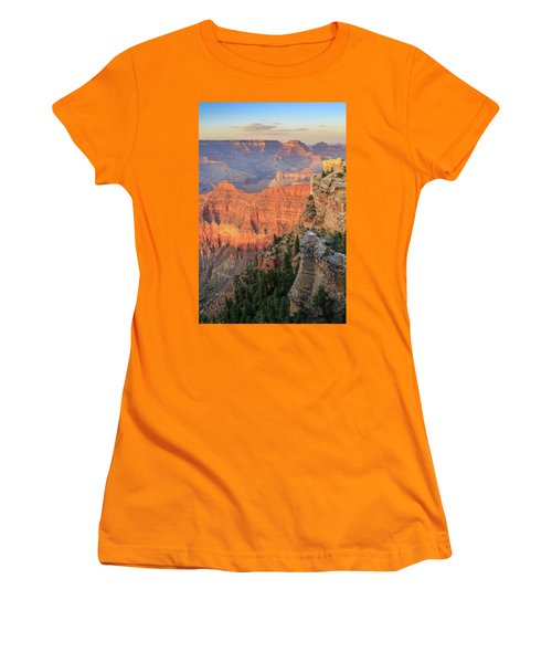 Women's T-Shirt (Athletic Fit) featuring the photograph Sunset At Mather Point by David Chandler