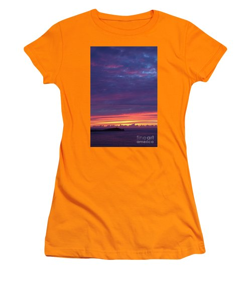 Women's T-Shirt (Junior Cut) featuring the photograph Sunset Clouds In Newquay, Uk by Nicholas Burningham