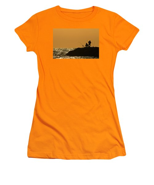 Sunset Fishermen Women's T-Shirt (Athletic Fit)