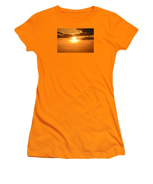 Women's T-Shirt (Junior Cut) featuring the photograph Sunset In The Clouds  by Lyle Crump