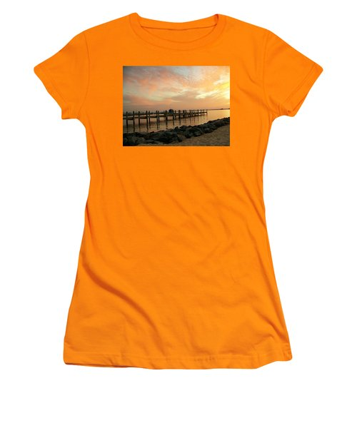 Sunset On Dewey Bay Women's T-Shirt (Junior Cut) by Trish Tritz