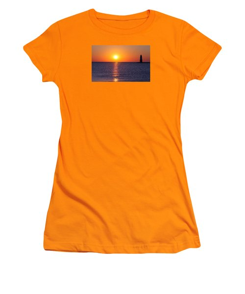 Sunset On Lake Michigan Women's T-Shirt (Athletic Fit)