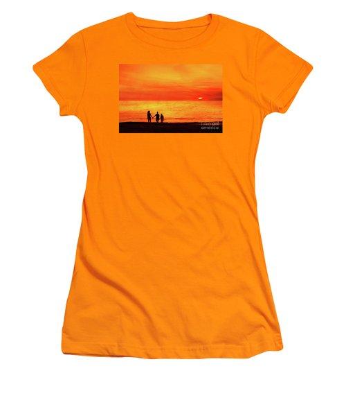 Sunset On The Beach Women's T-Shirt (Junior Cut) by Randy Steele