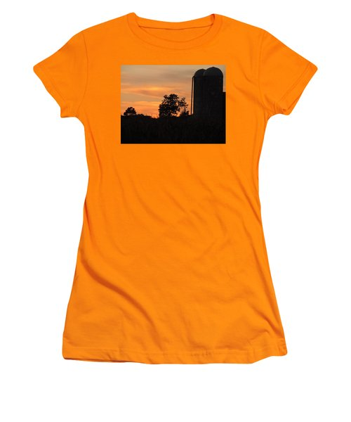 Sunset On The Farm Women's T-Shirt (Junior Cut) by Teresa Schomig