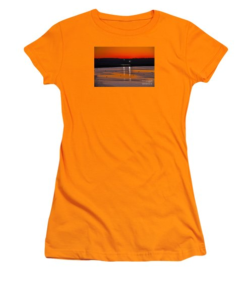 Women's T-Shirt (Junior Cut) featuring the photograph Sunset Over Lake Texoma by Diana Mary Sharpton