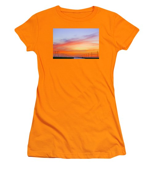 Sunset Over The Glades Women's T-Shirt (Athletic Fit)