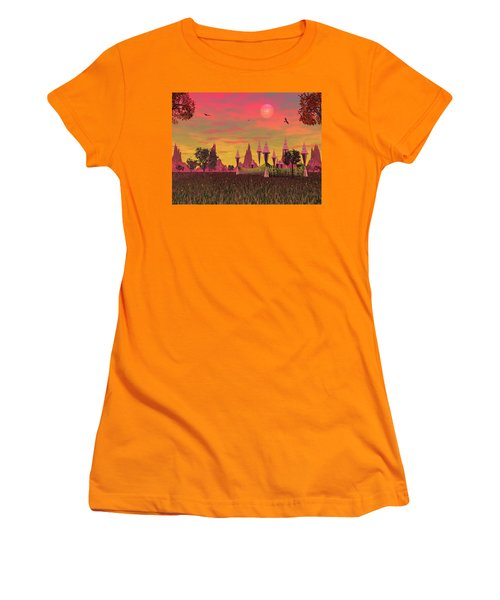 Women's T-Shirt (Athletic Fit) featuring the photograph Sunset Palace  by Mark Blauhoefer