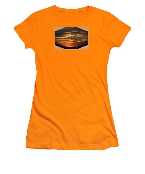 Women's T-Shirt (Junior Cut) featuring the photograph Sunset Perspective by Shirley Mangini