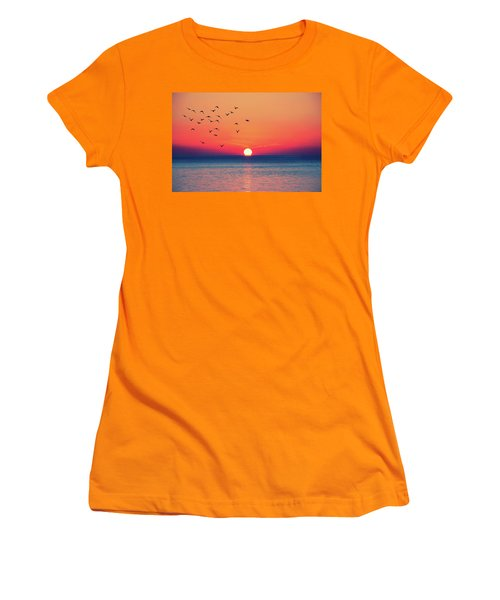 Sunset Wishes Women's T-Shirt (Athletic Fit)