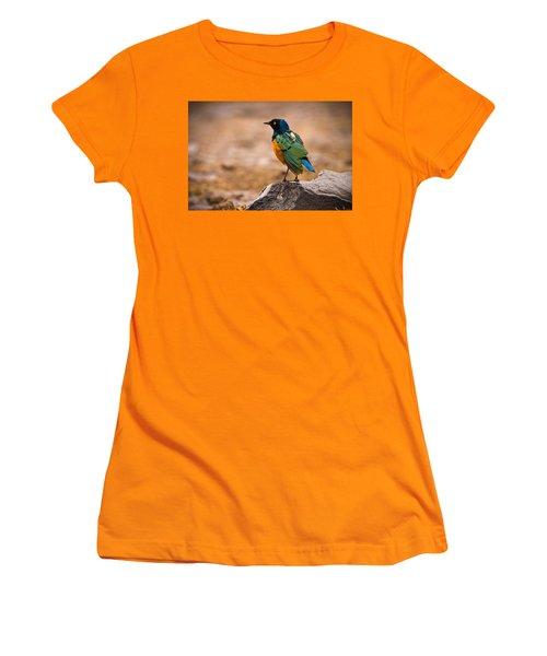 Superb Starling Women's T-Shirt (Junior Cut) by Adam Romanowicz