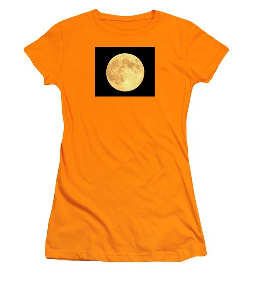 Supermoon Full Moon Women's T-Shirt (Junior Cut) by Kyle West