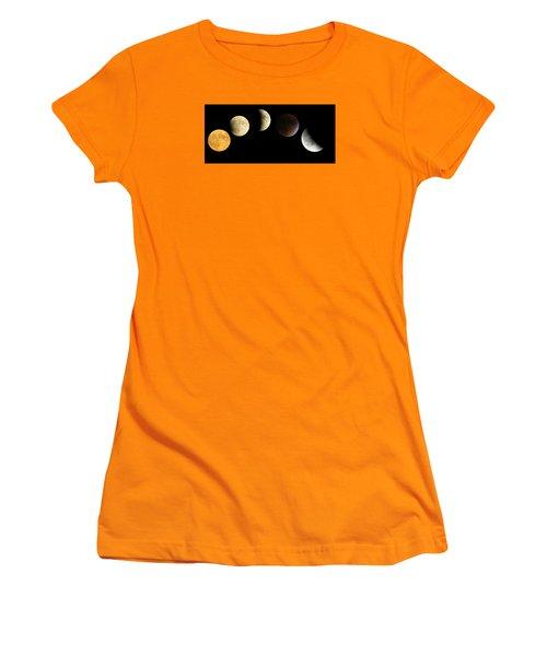 Supermoon Total Lunar Eclipse Women's T-Shirt (Junior Cut) by Nikki McInnes