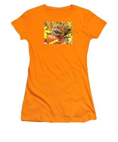 Sweet Carolina Wren Women's T-Shirt (Junior Cut) by Tina  LeCour