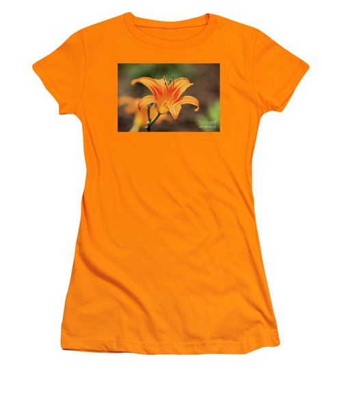 Sweet Lilly In Orange Women's T-Shirt (Athletic Fit)