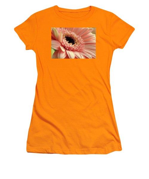 Sweet Peach Gerbera #2 Women's T-Shirt (Athletic Fit)