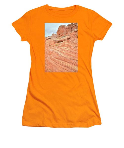 Women's T-Shirt (Junior Cut) featuring the photograph Swirling Sandstone Color In Valley Of Fire by Ray Mathis