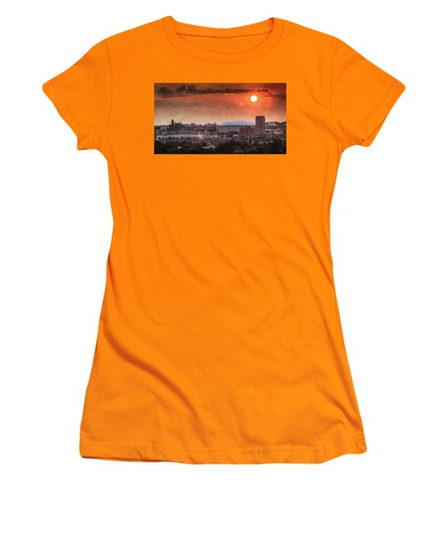 Syracuse Sunrise Over The Dome Women's T-Shirt (Junior Cut) by Everet Regal